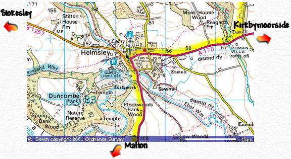 Helmsley Map Large Scale